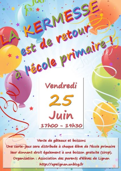 Favori Association des Parents d'Elèves – Lignan Sur Orb » La kermesse  HR06